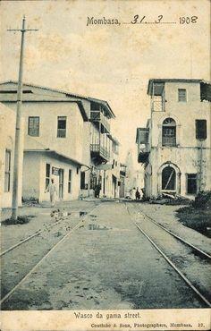 Vasco da Gama Street, Mombasa, Kenya, 1908. BelAfrique your personal travel planner - www.BelAfrique.com