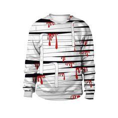 ANJUNIE Halloween Loose Fit Pullover Women Ghost Printing Round Neck Sweatshirt Top Outwear