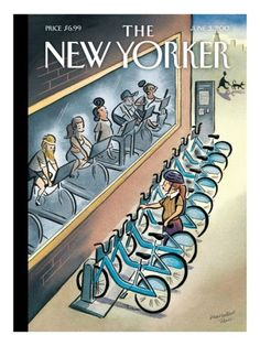 Cover - Best Cover Magazine - June 2013 New Yorker cover illustration - Marcellus Hall Best Cover Magazine : – Picture : – Description June 2013 New Yorker cover illustration – Marcellus Hall -Read More – The New Yorker, New Yorker Covers, Power Walking, Nachhaltiges Design, Graphic Design, Magazin Covers, Magazin Design, Ligne Claire, Bicycle Art