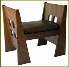 Window Bench Plans, Stickley / Limbert Mission Furniture Plans