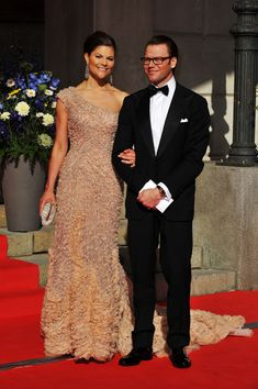 Princess Victoria and fiance Daniel Westling arrive for the Government Pre-Wedding Dinner for Crown Princess Victoria of Sweden and Daniel Westling at The Eric Ericson Hall on June 18, 2010 in Stockholm, Sweden.