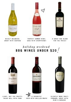 small shop: summer weekend BBQ wine picks under $20