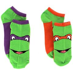 TMNT Teenage Mutant Ninja Turtles Womens 2 pk Ankle Socks…