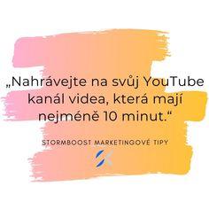 Pokud už má Vaše firma svůj YouTube kanál, je klíčové, aby Vaše videa měla alespoň 10 minut. Řekneme Vám proč. #marketing #onlinemarketing #youtube #reklama #video #videoreklama #plzen Online Marketing, Chart, Youtube, Youtubers, Youtube Movies
