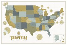 brewery map of the united states. buy it here. http://popchartlab.com/collections/prints/products/the-bountiful-breweries-of-the-united-states-of-america