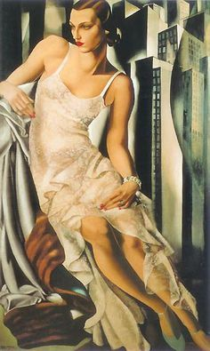 great art dec by tamara de lempicka.love her work.look great in living room area