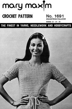 Use our vintage pattern to crochet this pullover.