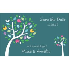 Spring Trees Save The Date Magnets