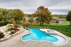North Barrington, IL Swimming Pool, Hot Tub and Custom Concrete Slide