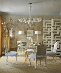 A Divine Dining Room. Interior Designer: Jan Showers.