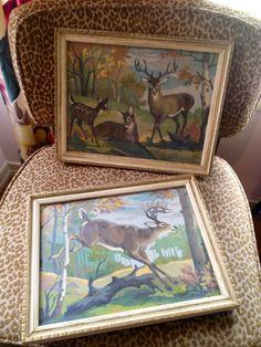 Vintage Paint By Numbers Deer