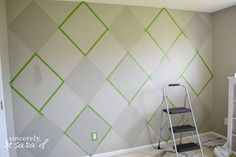 Painted Argyle Wall