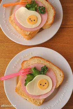 sunny-side up made of cheese  ham toast