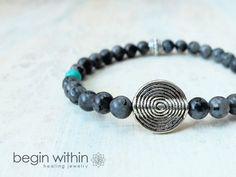 """""""I bought this for my hubby and he loves it!""""  Reviewed on #etsy   Law of Attraction Vortex bracelet by Begin Within Jewelry   #spiritual #loa #jewelry"""
