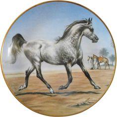 Beautiful Arabian Stallion Decorative Plate