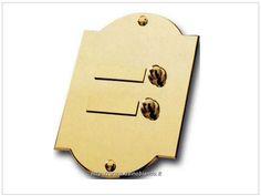 art. 302 - Pulsantiera in ottone a 2 pulsanti