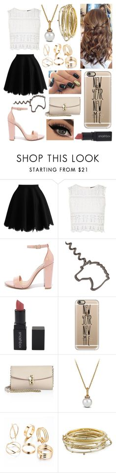"""The start of something new ~ new year party"" by paloveigaa ❤ liked on Polyvore featuring Topshop, Steve Madden, Smashbox, Casetify, Dolce&Gabbana, David Yurman and Kendra Scott"