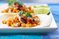 Tacos w/ Yam & Caramelized Onions