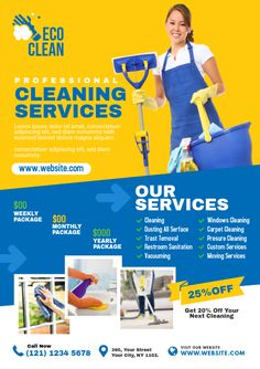Copy of Cleaning Service Flyer Cleaning Services Company, Commercial Cleaning Services, Professional Cleaning Services, Cleaning Companies, Cleaning Service Flyer, Cleaning Flyers, Laundry Business, Cleaning Business, Office Cleaning