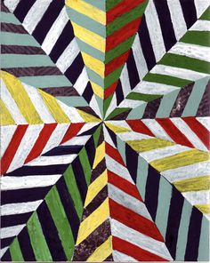 Chevron Op Art - to reinforce colour, symmetry, balance, harmony yr 7-8