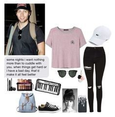 """""""You and me up against the great unknown"""" by jillafred ❤ liked on Polyvore featuring MANGO, Spitfire, GUESS, Converse, Rodial, 5sos, lukehemmings and 5secondsofsummer"""