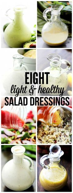 Eight Light and Healthy Homemade Salad Dressings - A collection of my favorite homemade salad dressings. Bright, flavorful salad dressing recipes that will make your salads sing!