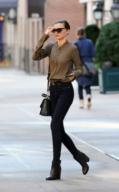 Miranda Kerr. I want to try and not wear jackets more often, so I think these shirts would be a good start~
