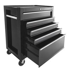 �37.4-in x 26.5-in 5-Drawer Ball-Bearing Steel Tool Cabinet (Black)