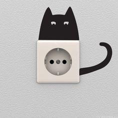 Muurstickers dieren - Muursticker kat | Ambiance-sticker.com