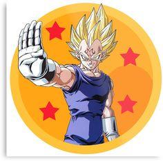 Dragon Ball - Majin Vegeta Dbz, Goku, Photographic Prints, Akira, Dragon Ball Z, Anime Art, Disney Characters, Fictional Characters, Metal