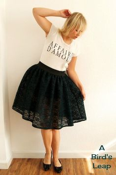 A Bird's Leap: 2nd: #DIY Lace Tutu Skirt