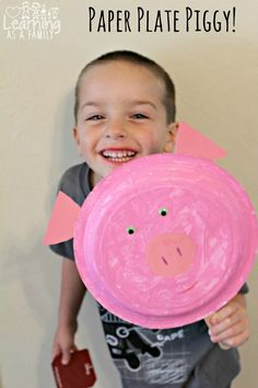 Pig Paper Plate Inspired by Peppa Pig (Sponsored by Fox Home Entertainment Insiders)