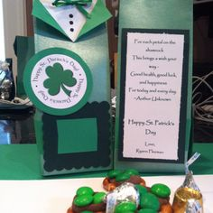 St Patrick's Day treat boxes for preschool teachers