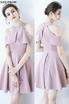 Discounted Pretty Mauve Short Homecoming Dress Aline with Ruffles at SheProm. is an online store with thousands of dresses, range from Trendy Dresses, Cute Dresses, Beautiful Dresses, Short Dresses, Formal Dresses, Skirt Fashion, Fashion Dresses, Ankara Fashion, Fashion Clothes