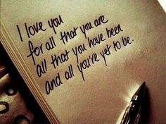 I love you for all that you are love love quotes quotes quote i love you love images love sayings Cute Quotes, Great Quotes, Inspirational Quotes, Motivational Quotes, Funny Quotes, Cute Love Sayings, Unique Love Quotes, Positive Quotes, Quotes Pics