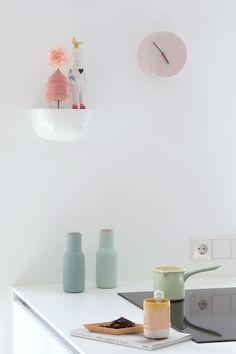 Kitchen Interior, Interior And Exterior, Interior Design, Kitchen Dining, Dining Room, Pretty Pastel, Kitchen Stuff, Floating Nightstand, Sweet Home