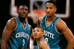 Larry Johnson, Muggsy Bogues, Alonzo Mourning - 90's Hornets Big 3