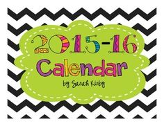 Great to keep in your teacher notebook, on your desk, or to hang in your classroom!  These bright-colored, chevron, monthly calendars are editable.  This is an editable PDF file.  It's new and improved so that the formatting is all done for you.  Just open the PDF and type straight into the date boxes!