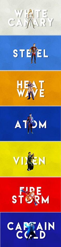 Legends of Tomorrow Team | White Canary - Steel - Heat Wave - Atom - Vixen - Firestorm - Captain Cold #LegendsOfTomorrow #season2 #cw