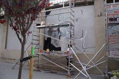"""Pedro Sega en el Proyecto """"Muros"""".#ArteTabacalera Promoción del Arte #ArteUrbano #StreetArt Madrid.Día4 #Arterecord 2014 https://twitter.com/arterecord"""