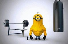 Hello guys , this is my latest work . I made my own version of the minions . a minion called STERO . loves to work out and a bit addicted to steroids ! Gym Humor, Workout Humor, Fitness Humor, Fitness Motivation, Daily Motivation, Gym Memes, Funny Humor, Powerlifting Motivation, Funny Workout