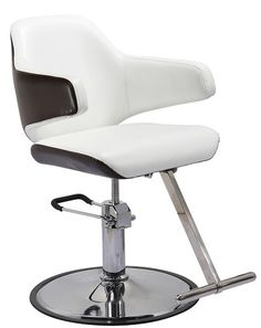 This is Luke- the most modern guy around! Pictured in a bright white with a round base that compliments his shape, Luke adds a flare that will make any lady swoon! He's the perfect chair to update any salon!