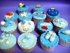 Cupcakes, Modern Baby Shower Cupcakes With Baby Fashion Theme Design 01207: Cute Baby Shower Cakes Design & Decoration