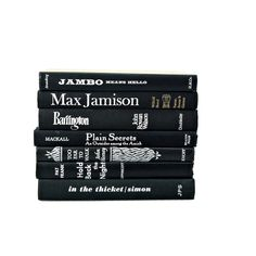 BLACK WHITE Decorative Books, Book Collection, Home Decor, Stack,... ($38) ❤ liked on Polyvore featuring fillers, books, black, decor and black fillers