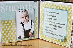 Baby's first year or baby's milestone album. Great for display at his first birthday party.