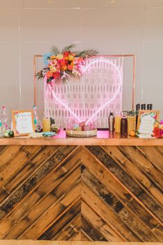DC Event Planner - Recap of Simply Breathe Event's annual Miami themed Galentine's Day Party at Edgewood Arts Center. Photo Cred: M Harris Studios. Wedding Event Planner, Wedding Events, Galentines Day Ideas, Nacho Bar, Dc Weddings, Photo Studio, Photo Booth, Table Decorations, Breathe
