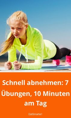 Schnell abnehmen: 7 Übungen, 10 Minuten am Tag Lose weight quickly: 7 exercises, 10 minutes a day eatsmarter. Health Fitness Quotes, Health And Fitness Tips, Fitness Nutrition, Nutrition Education, Body Fitness, Fitness Plan, Nutrition Guide, Healthy Nutrition, Fitness Goals