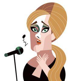 """""""Adele"""". Le Cubisme selon Pablo Lobato. #Art #Illustration #cubisme"""