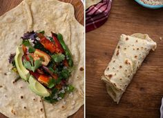 Spiced Zucchini + Rice Burrito with Homemade Einkorn Flour Tortillas | Naturally Ella