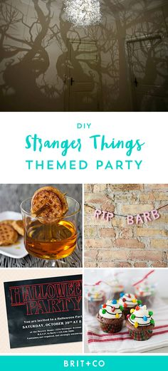 Bookmark this to throw an epic DIY Stranger Things-themed party for Halloween.